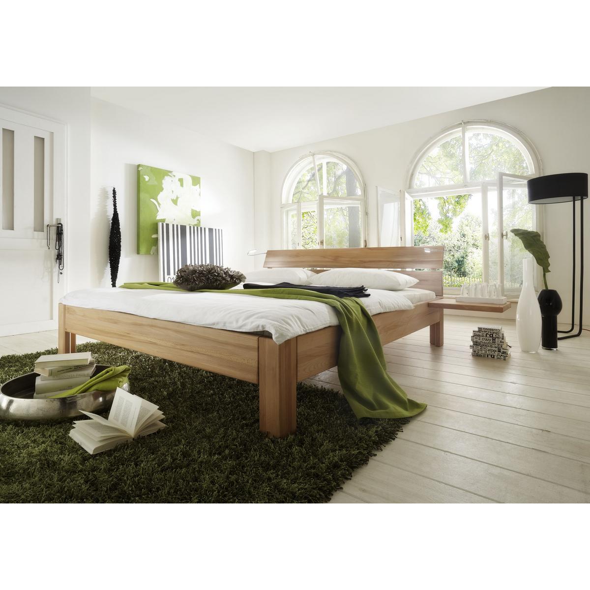 Massivholz bett 120x200 xl easy sleep kernbuche massiv for Einzelbett 120x200