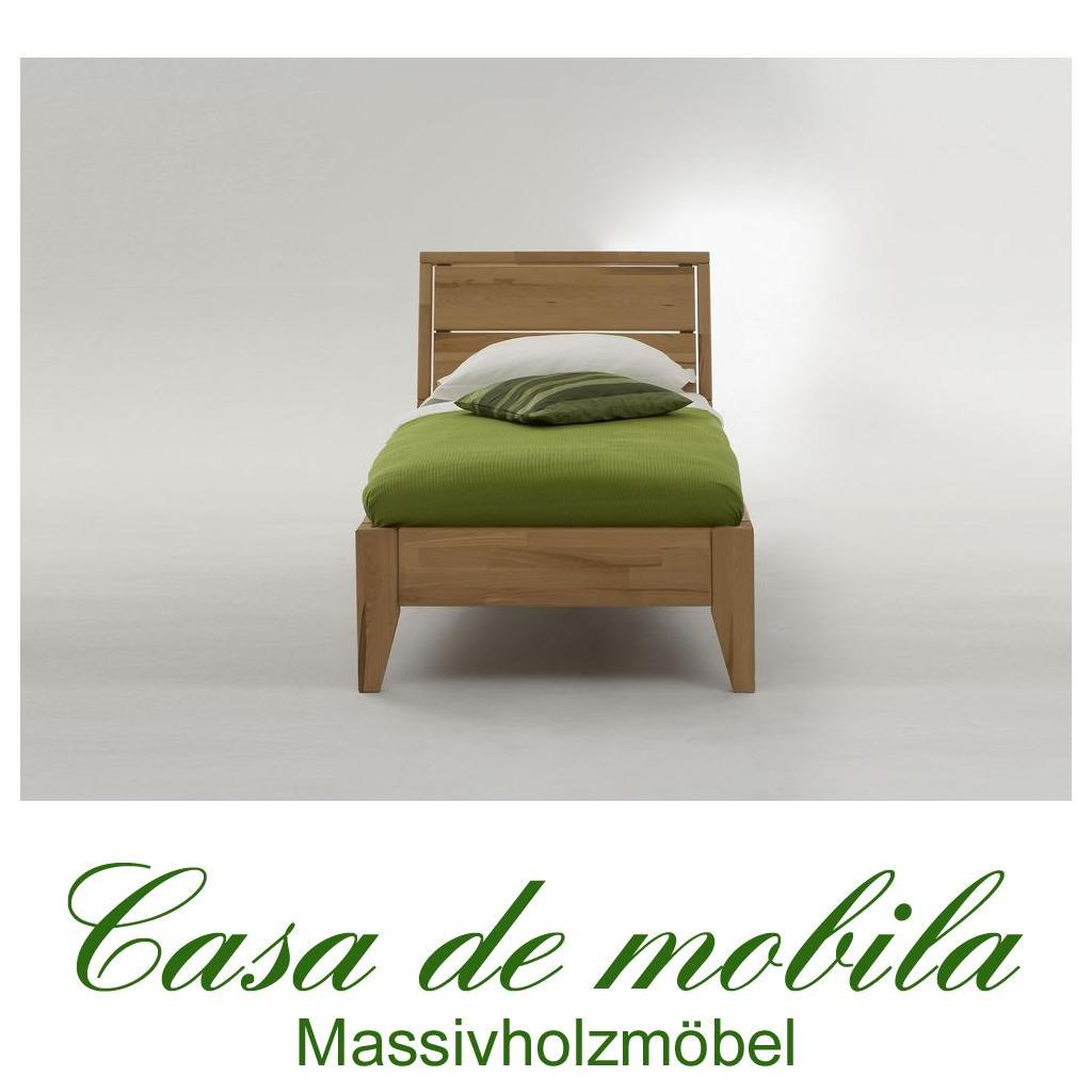 Massivholz Bett 90x200 Easy Sleep Kernbuche Massiv Geolt 9409 92 89