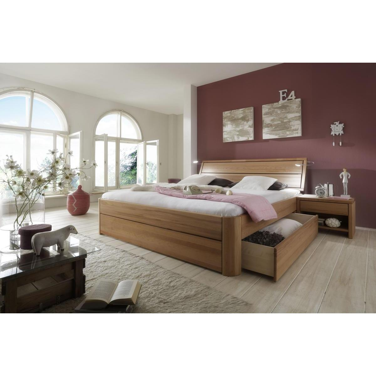 massivholz schubkastenbett 140x200 easy sleep kernbuche. Black Bedroom Furniture Sets. Home Design Ideas