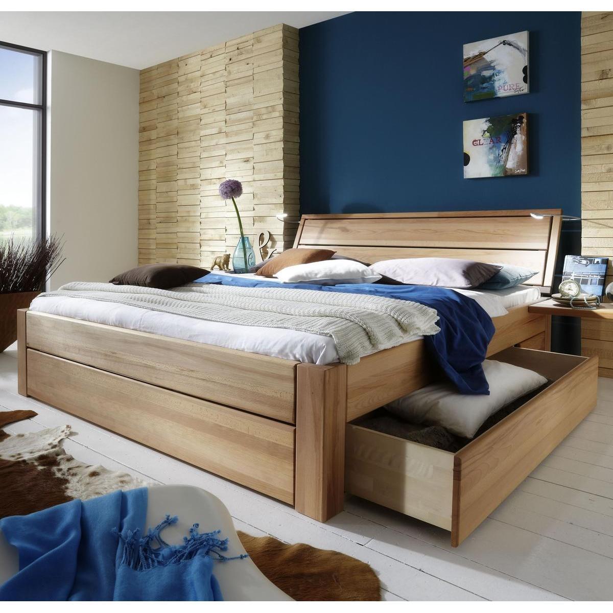 massivholz schubkastenbett 180x200 easy sleep kernbuche massiv ge lt 9418 93 52 87. Black Bedroom Furniture Sets. Home Design Ideas