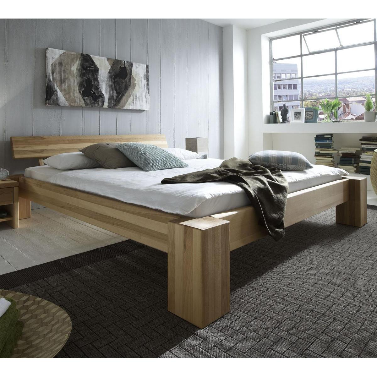 holzbett massiv 200 200. Black Bedroom Furniture Sets. Home Design Ideas