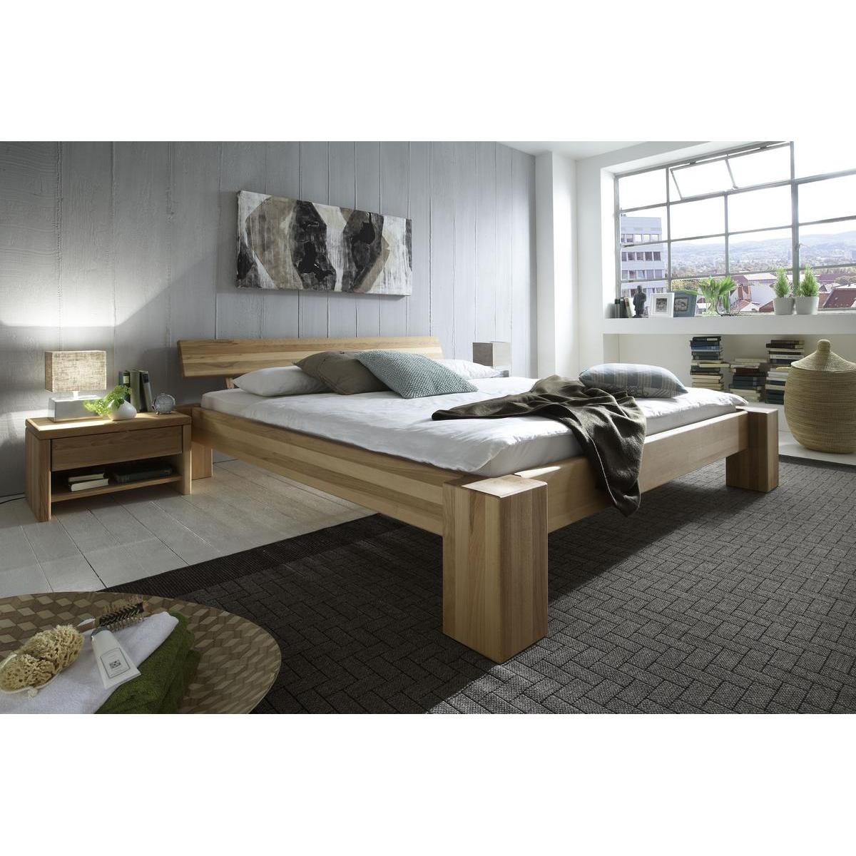 massivholz bett 200x200 xl easy sleep kernbuche massiv. Black Bedroom Furniture Sets. Home Design Ideas