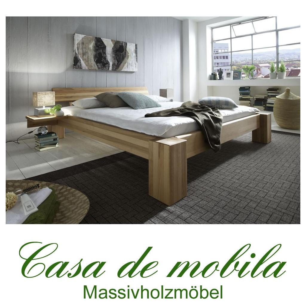 massivholz bett 160x200 xl easy sleep kernbuche massiv. Black Bedroom Furniture Sets. Home Design Ideas