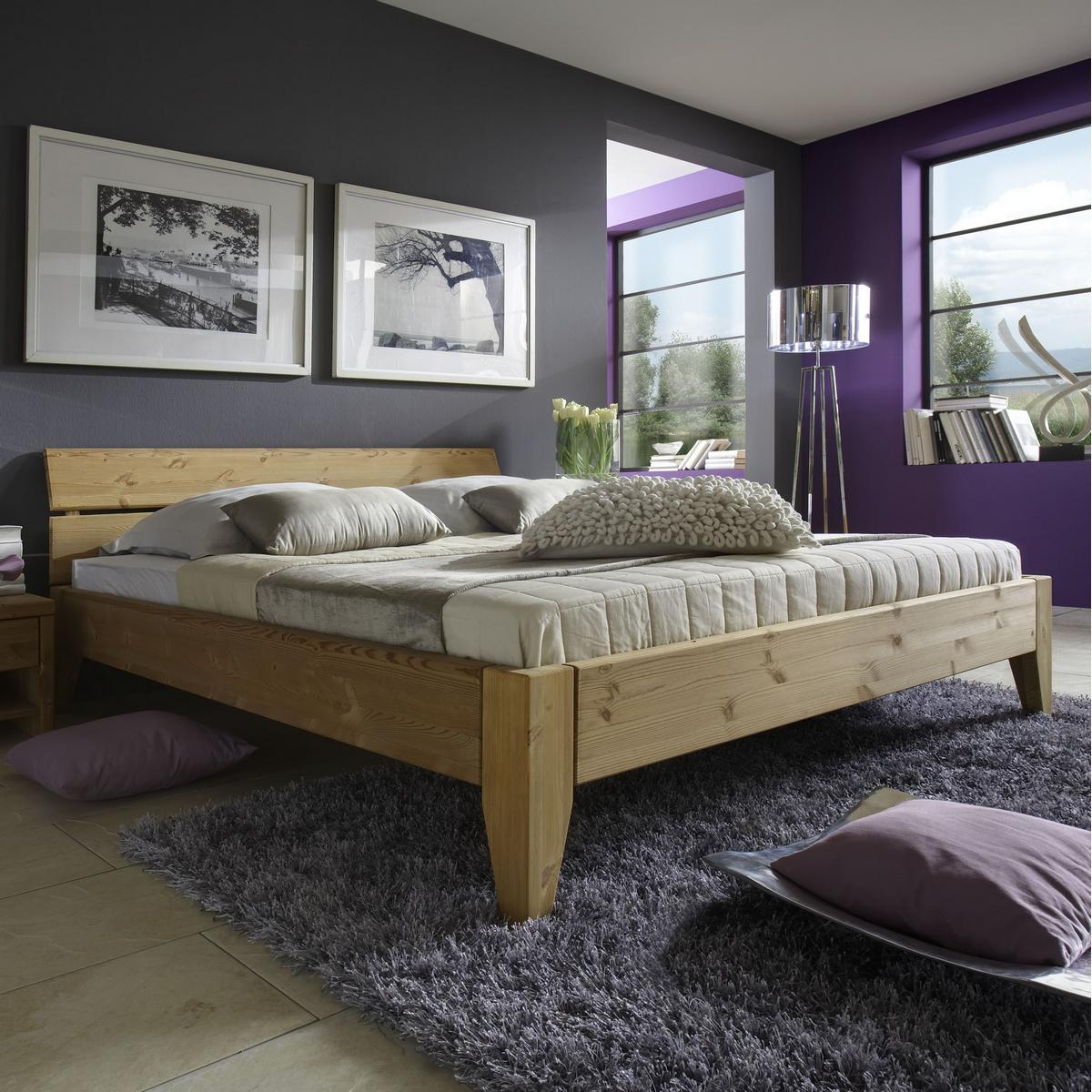 massivholz bett 160x200 easy sleep kiefer massiv gelaugt. Black Bedroom Furniture Sets. Home Design Ideas