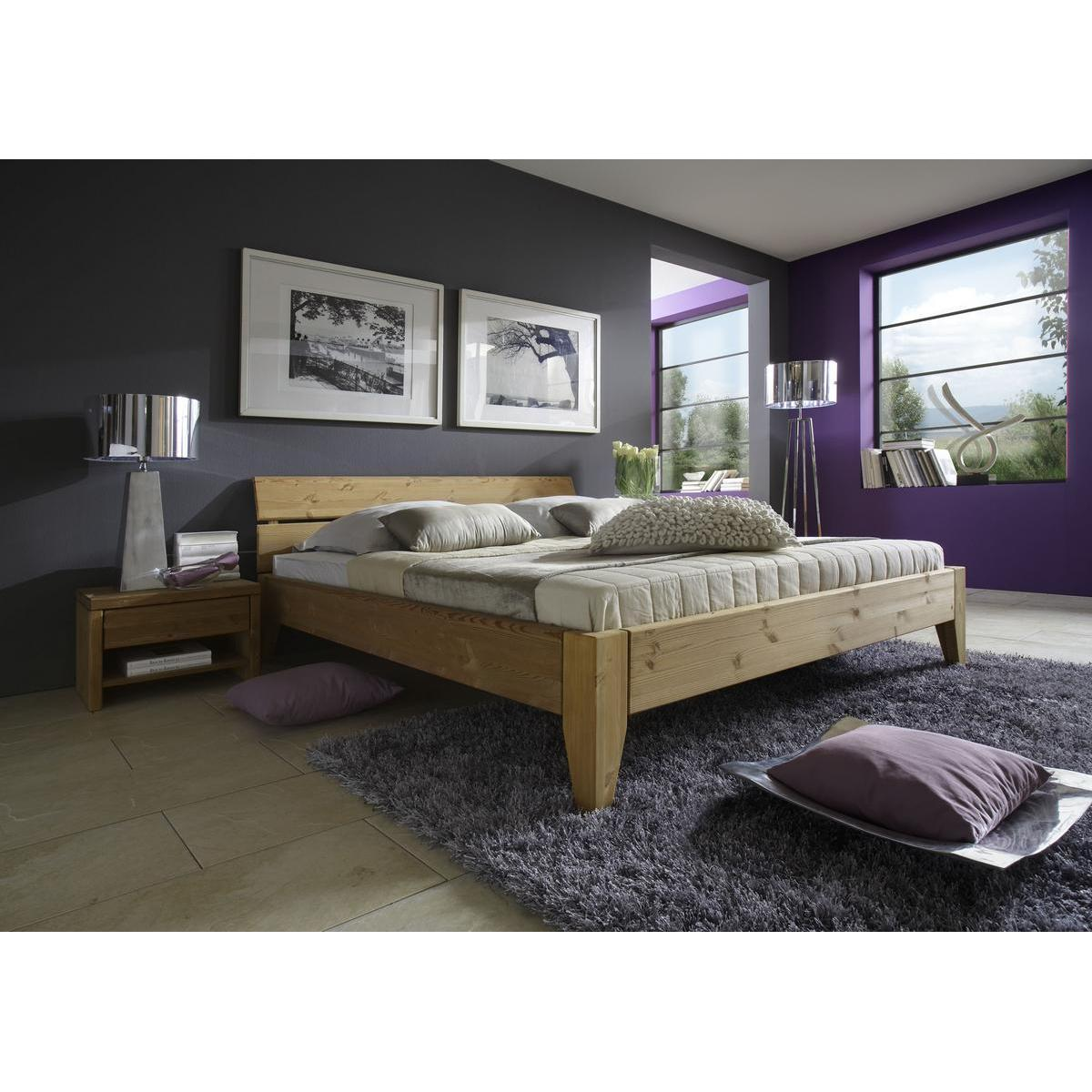 massivholz bett 100x200 easy sleep kiefer massiv gelaugt ge lt 9210 92 5. Black Bedroom Furniture Sets. Home Design Ideas