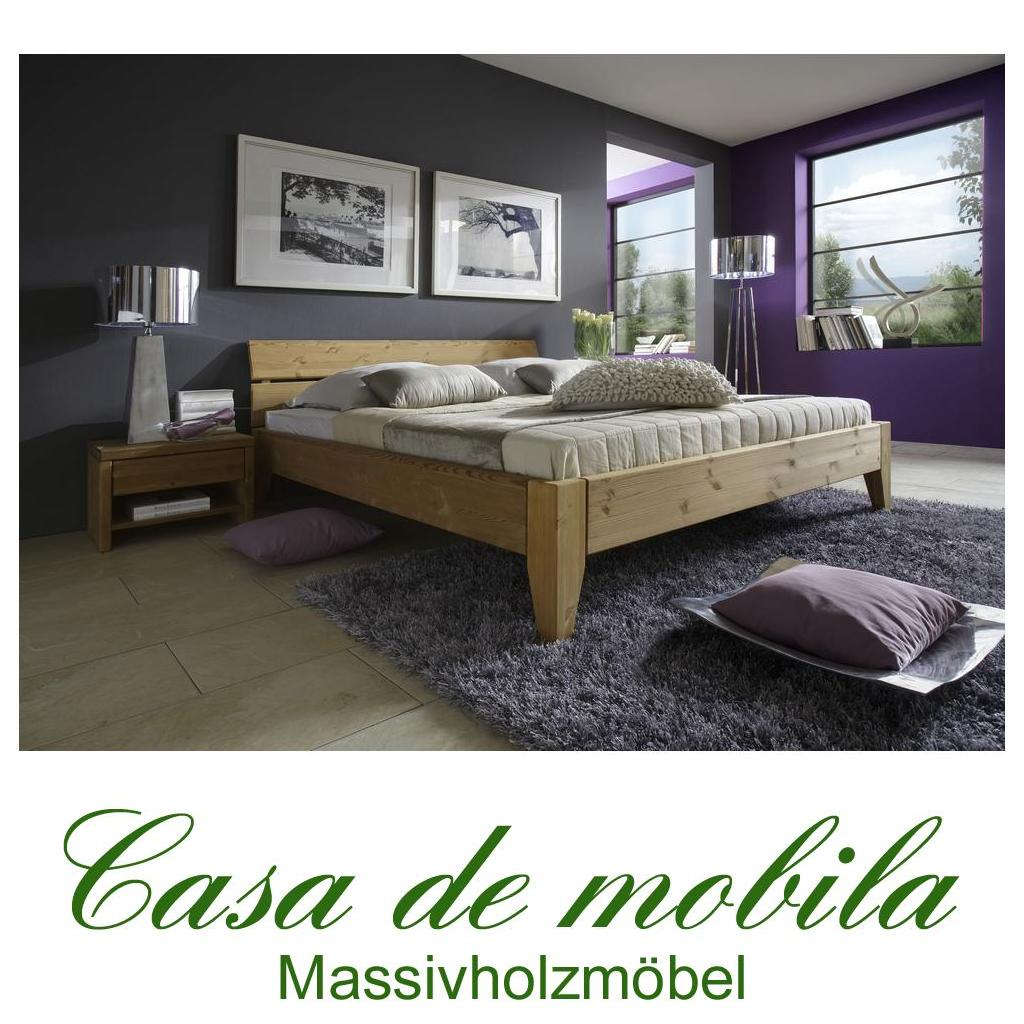 massivholz bett 100x200 easy sleep kiefer massiv gelaugt. Black Bedroom Furniture Sets. Home Design Ideas