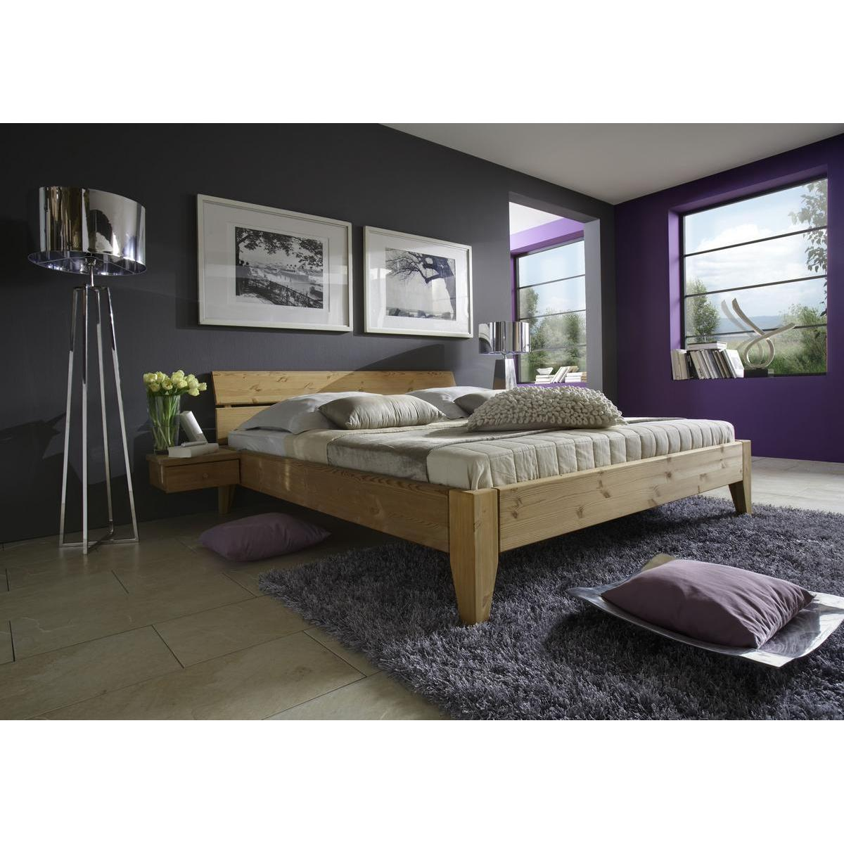 massivholz bett 180x200 easy sleep kiefer massiv gelaugt ge lt 9218 92 5. Black Bedroom Furniture Sets. Home Design Ideas