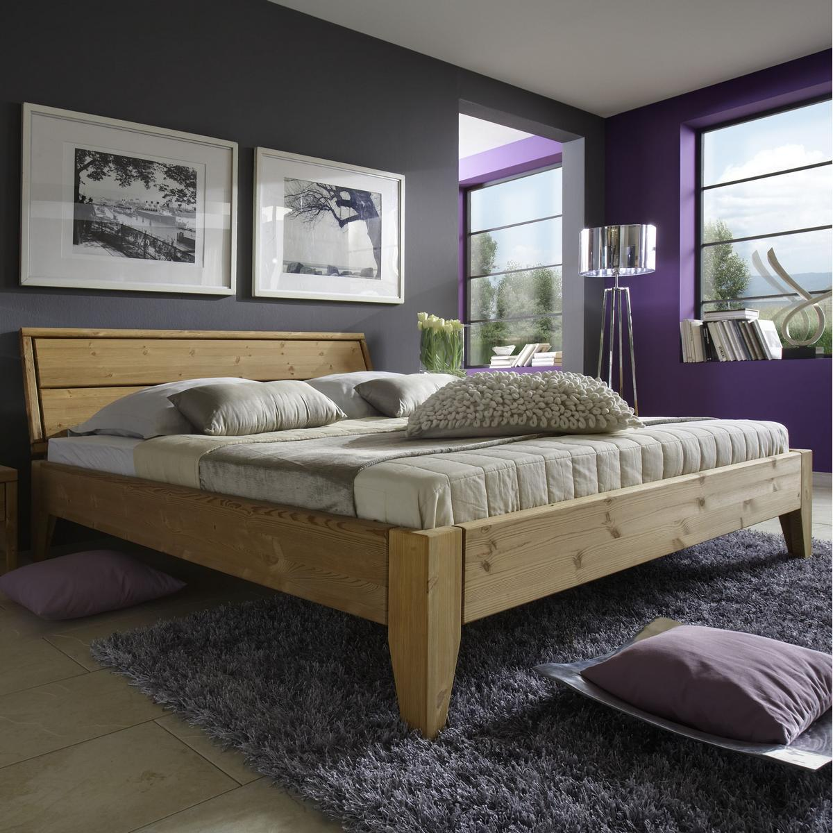 massivholz bett 180x200 easy sleep kiefer massiv gelaugt. Black Bedroom Furniture Sets. Home Design Ideas