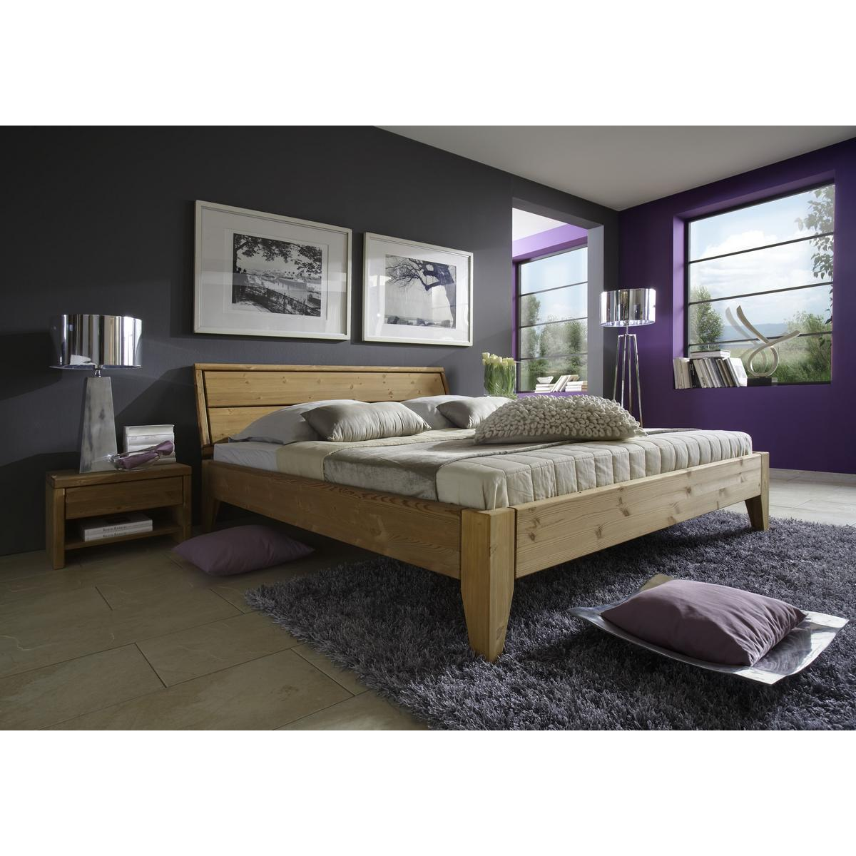 massivholz bett 200x200 easy sleep kiefer massiv gelaugt. Black Bedroom Furniture Sets. Home Design Ideas