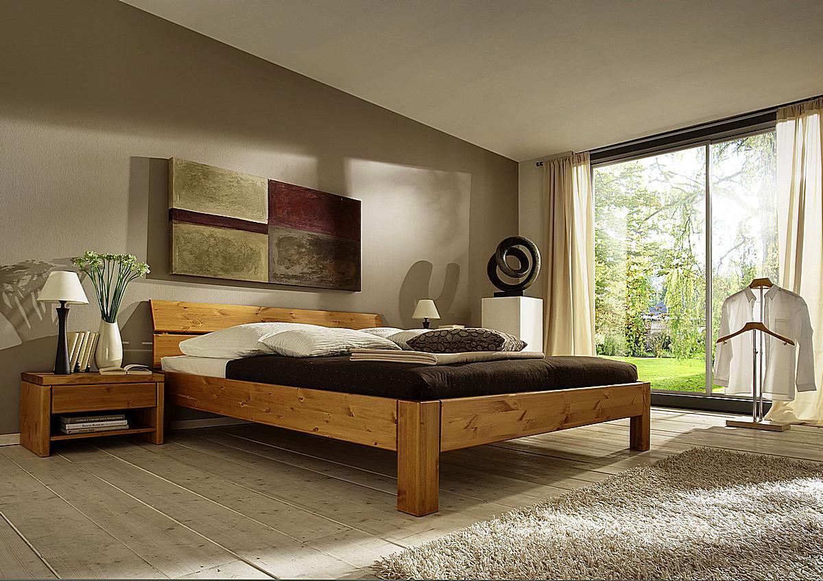 massivholz bett 120x200 easy sleep kiefer massiv honig. Black Bedroom Furniture Sets. Home Design Ideas