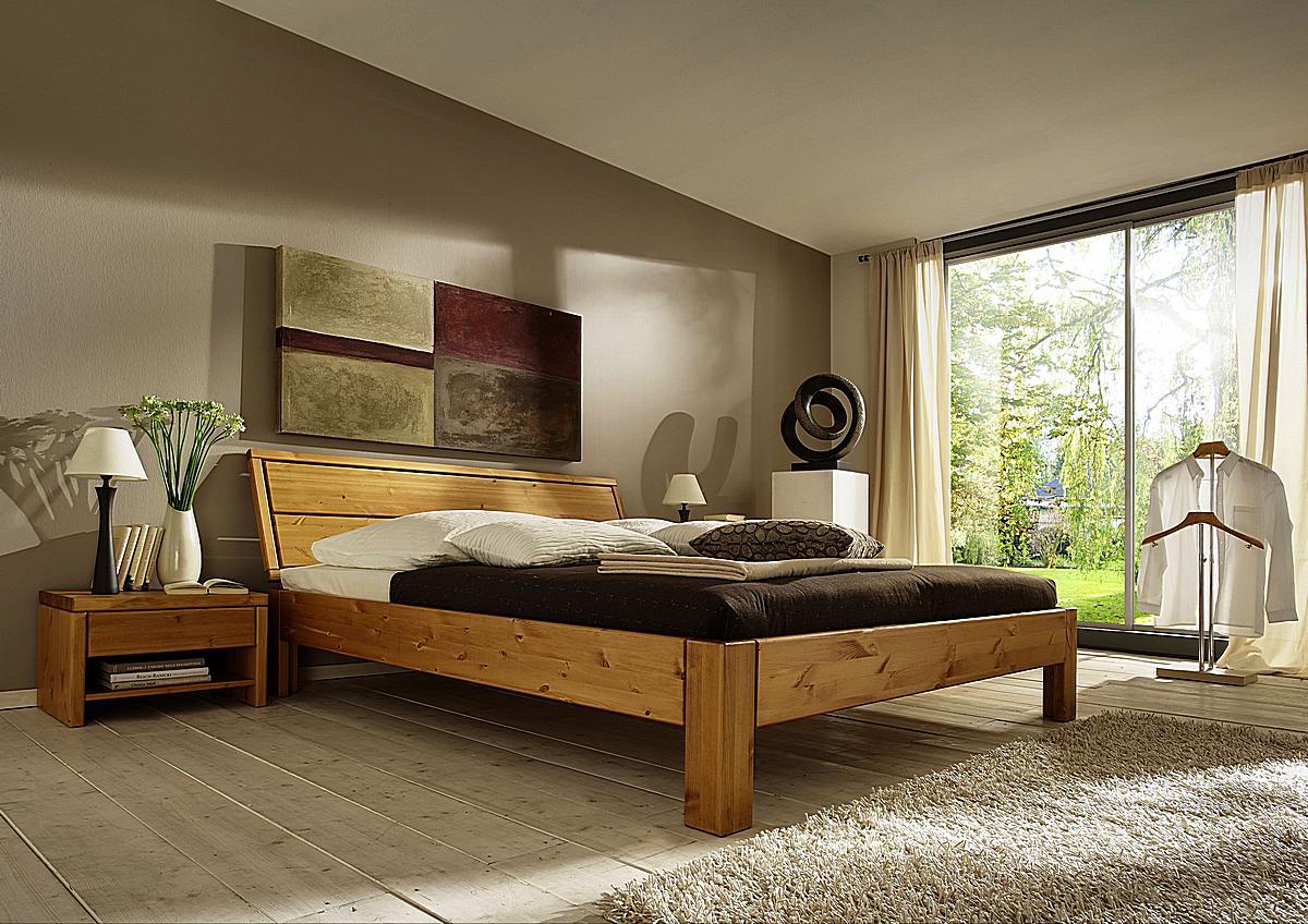 massivholz bett 180x200 easy sleep kiefer massiv honig lackiert 9418 93 7. Black Bedroom Furniture Sets. Home Design Ideas