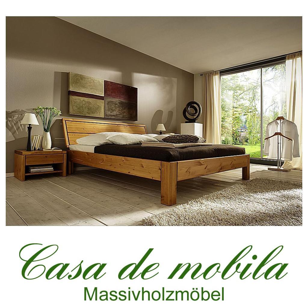 massivholz bett 180x200 easy sleep kiefer massiv honig. Black Bedroom Furniture Sets. Home Design Ideas