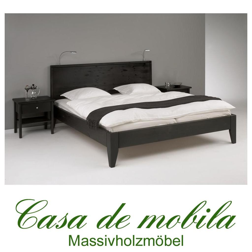 massivholz bett 180x200 easy sleep kiefer massiv schwarz. Black Bedroom Furniture Sets. Home Design Ideas