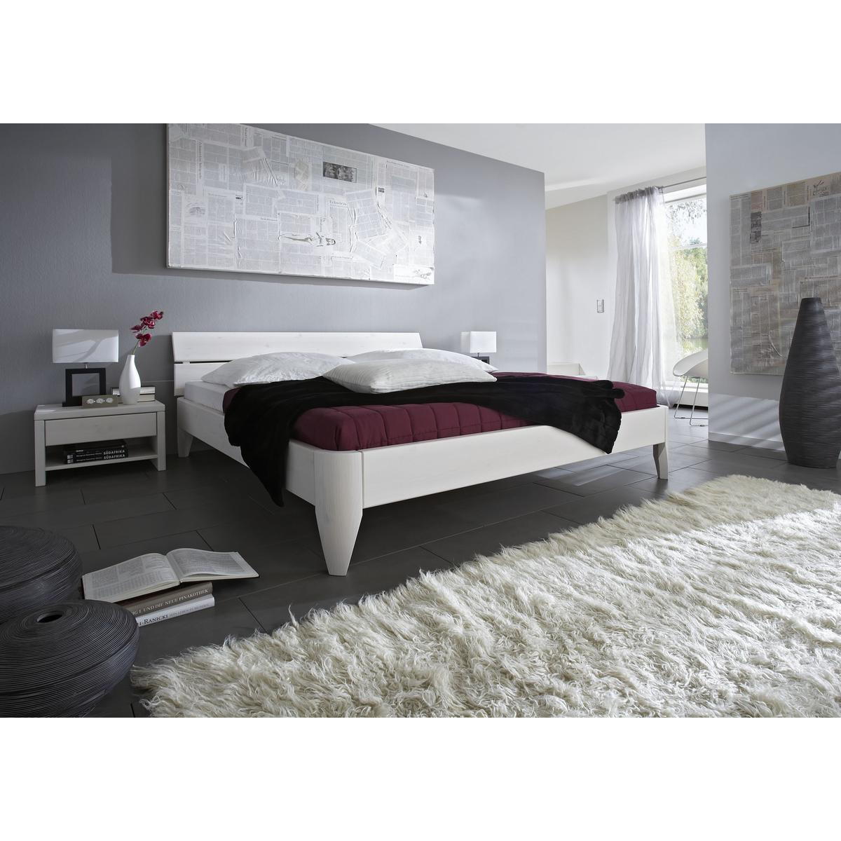 massivholz bett 100x200 easy sleep kiefer massiv wei lackiert 9210 72 0. Black Bedroom Furniture Sets. Home Design Ideas