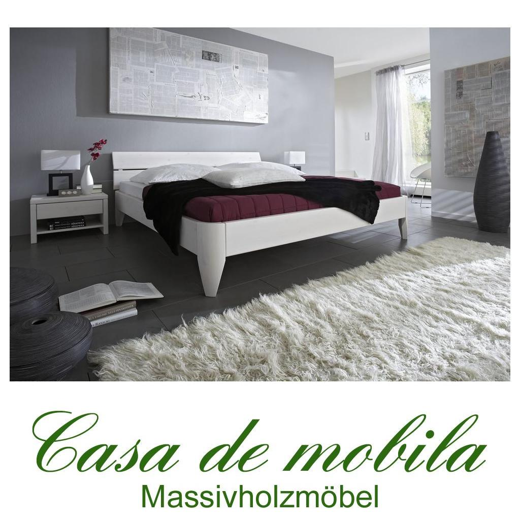 massivholz bett 180x200 easy sleep kiefer massiv wei lackiert 9218 72 0. Black Bedroom Furniture Sets. Home Design Ideas