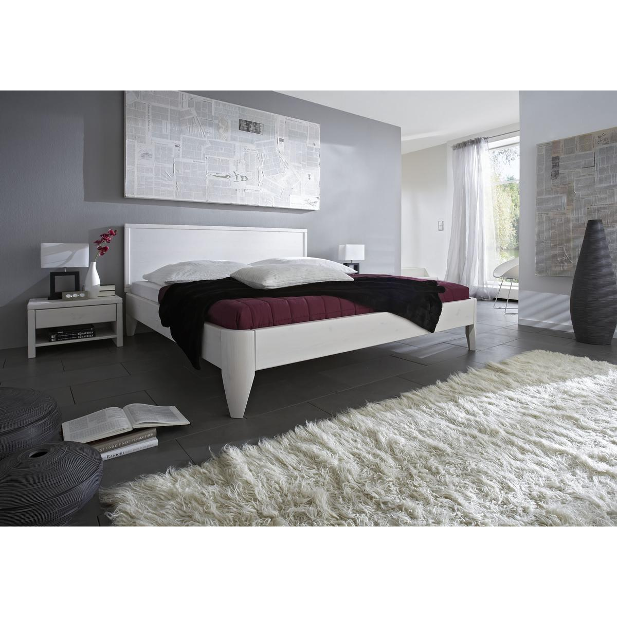 massivholz bett 200x200 xl easy sleep kiefer massiv wei lackiert 9320 72 0. Black Bedroom Furniture Sets. Home Design Ideas
