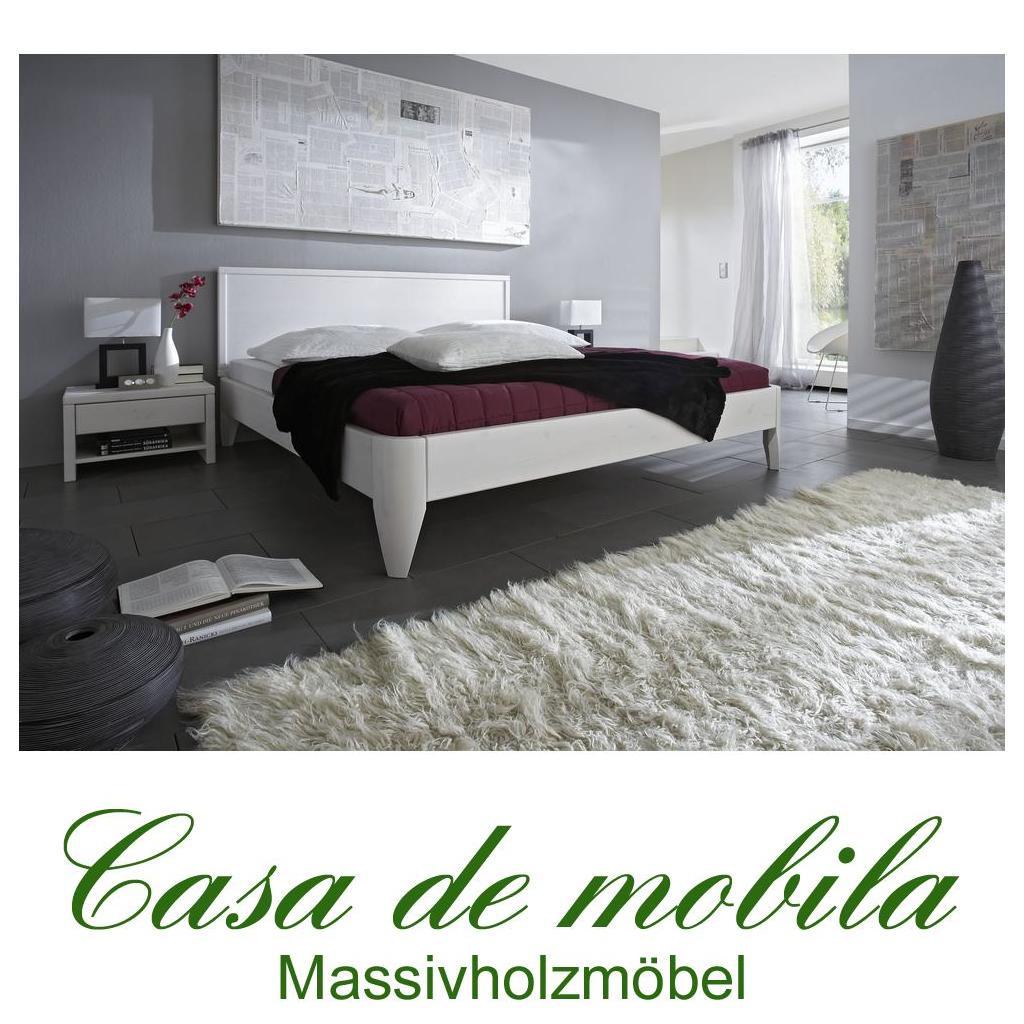 massivholz bett 180x200 easy sleep kiefer massiv wei. Black Bedroom Furniture Sets. Home Design Ideas