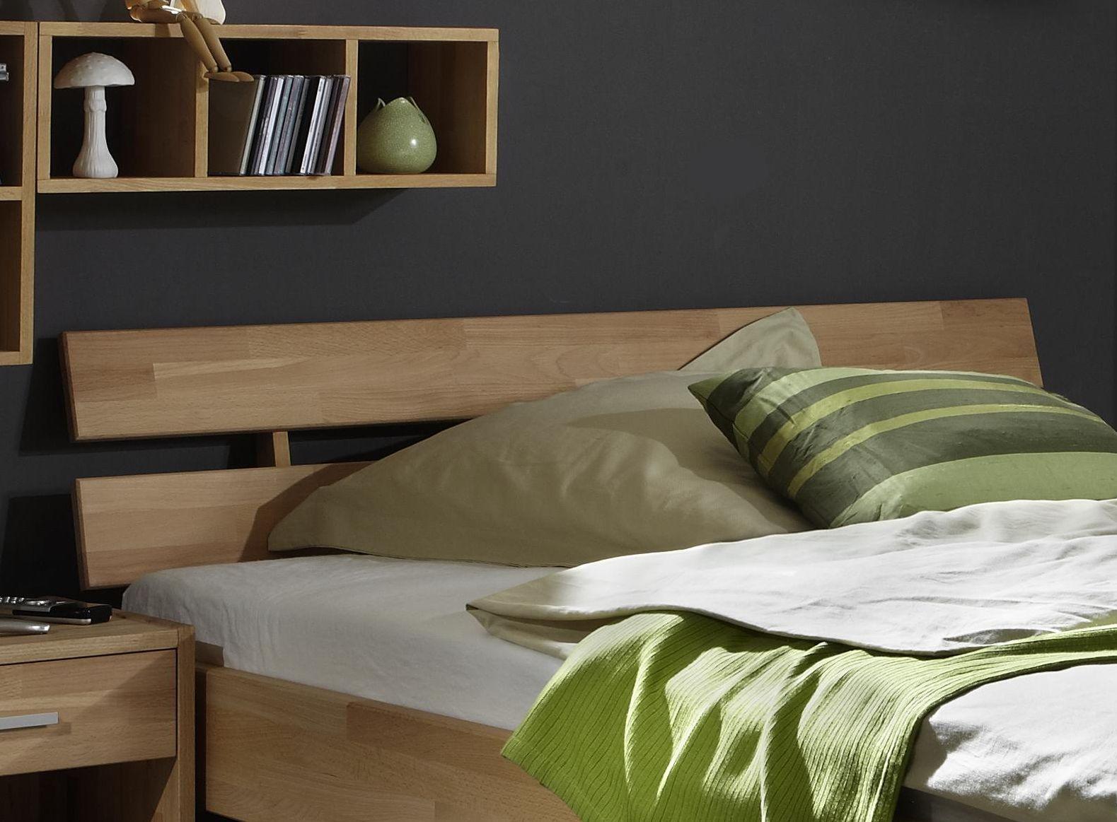echtholz einzelbett bett kernbuche massiv ge lt gamma. Black Bedroom Furniture Sets. Home Design Ideas