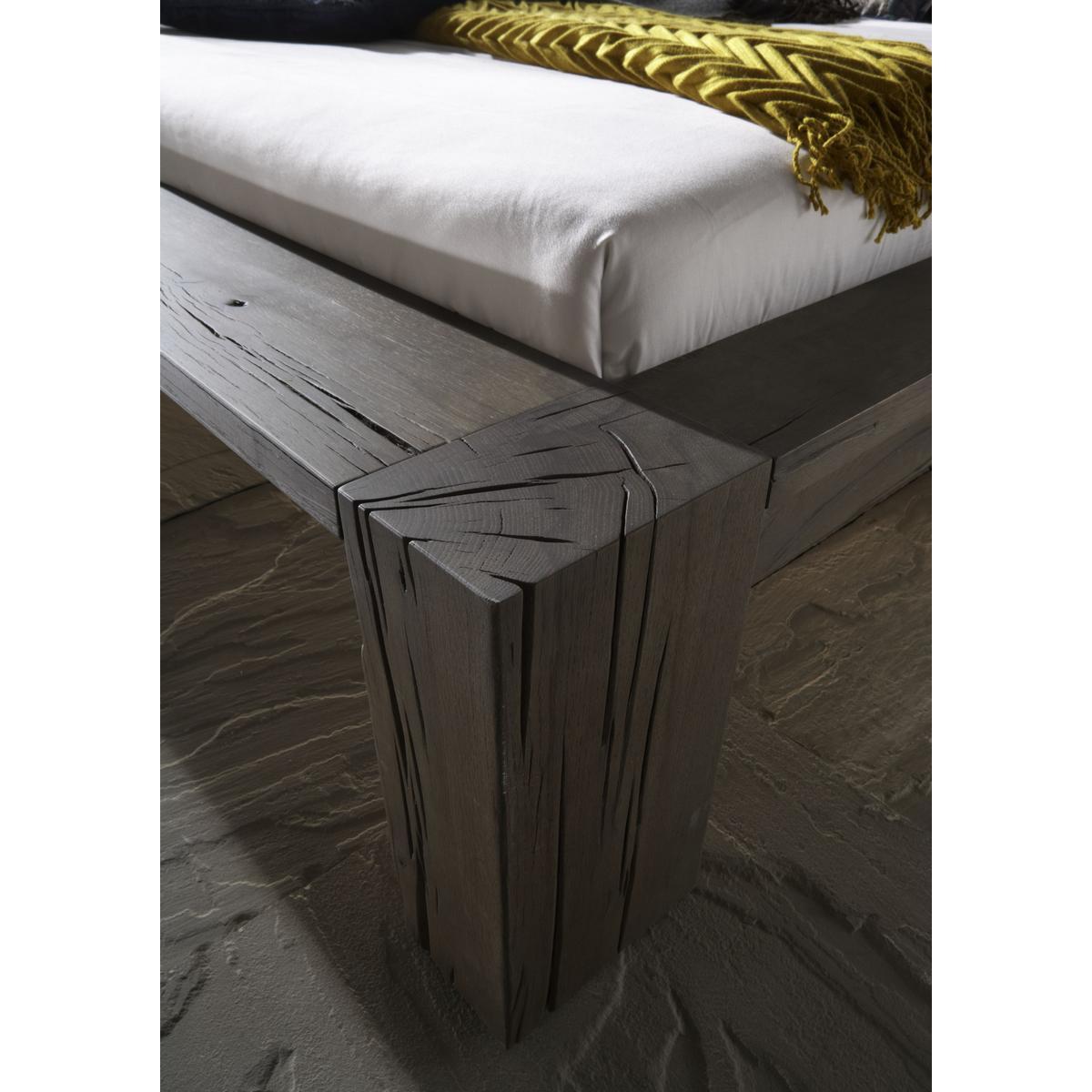 echtholz balkenbett 140x200 heavy sleep capri wildeiche. Black Bedroom Furniture Sets. Home Design Ideas