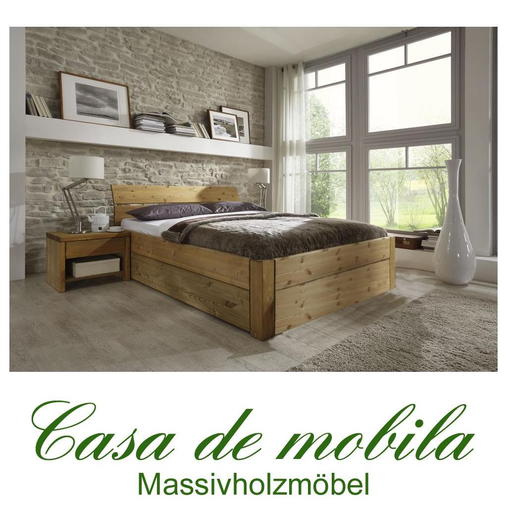 massivholz schubkastenbett 200x200 easy sleep kiefer massiv gelaugt ge lt 9220 93 52 5. Black Bedroom Furniture Sets. Home Design Ideas