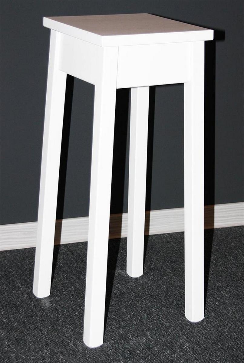 blumentisch blumenst nder blumenhocker wei lackiert 60 cm bei casa de mobila. Black Bedroom Furniture Sets. Home Design Ideas