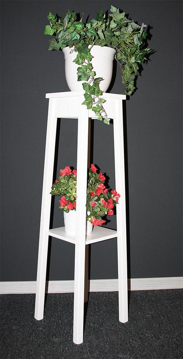 blumentisch blumenst nder blumenhocker 100 cm wei lackiert holz massiv. Black Bedroom Furniture Sets. Home Design Ideas