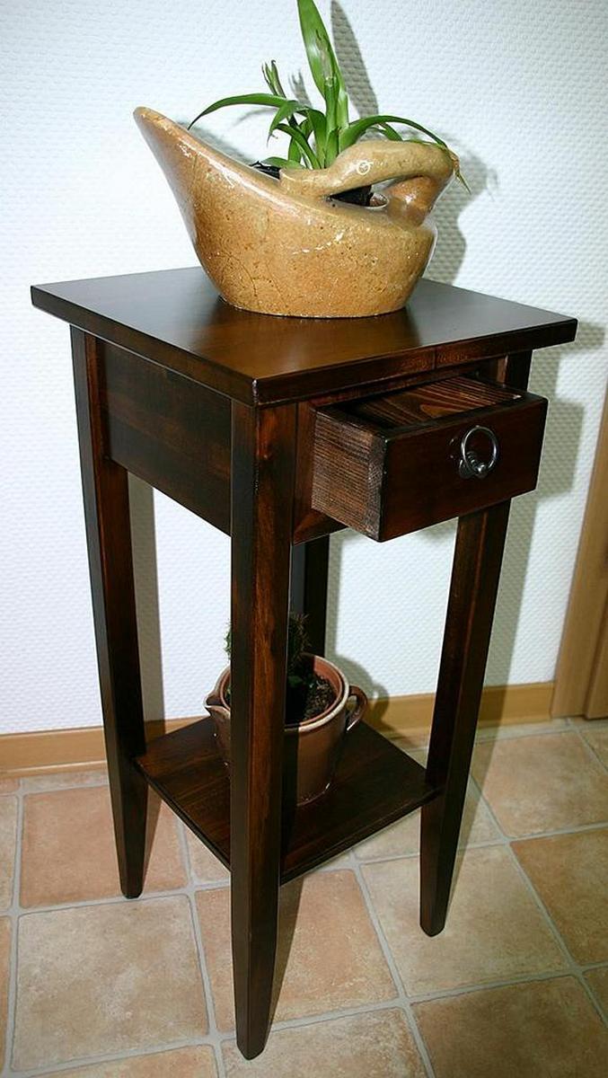 beistelltisch mit schublade braun. Black Bedroom Furniture Sets. Home Design Ideas