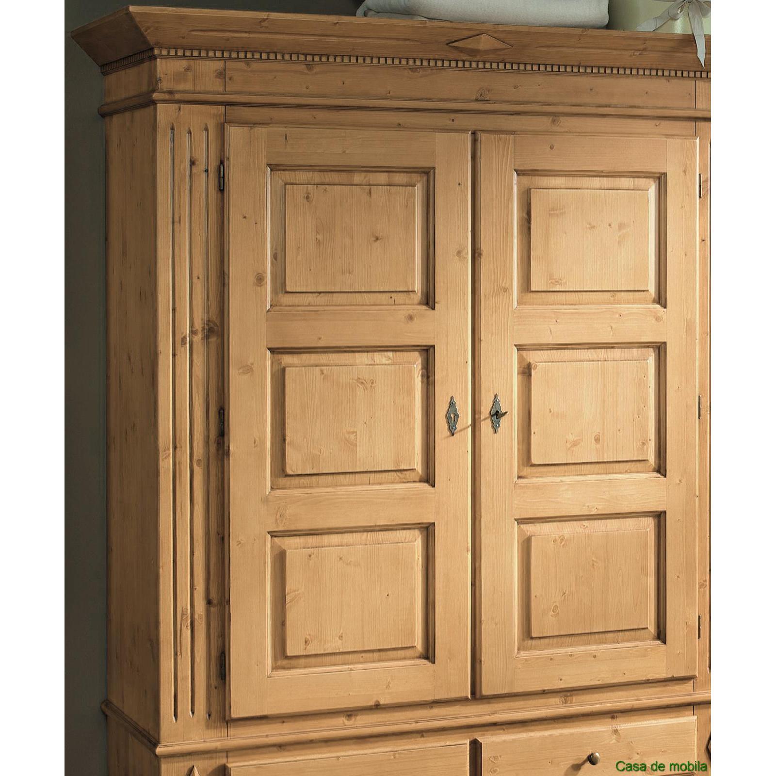 garderobenschrank kleiderschrank fichte massiv antik lackiert isabella. Black Bedroom Furniture Sets. Home Design Ideas