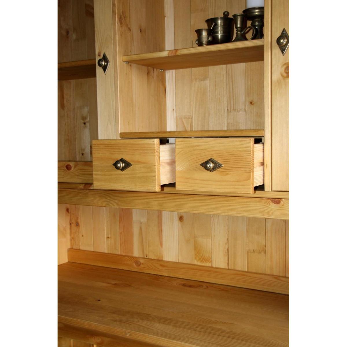 k chenbuffet landhaus bergen holz kiefer massiv gebeizt ge lt. Black Bedroom Furniture Sets. Home Design Ideas