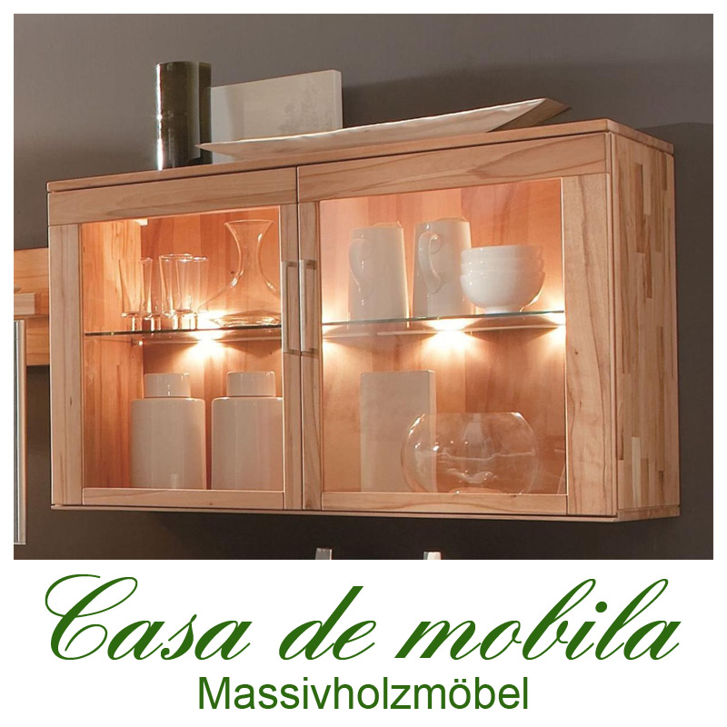 esszimmer h ngevitrine h ngeschrank rotkernbuche massiv natur ge lt casera. Black Bedroom Furniture Sets. Home Design Ideas