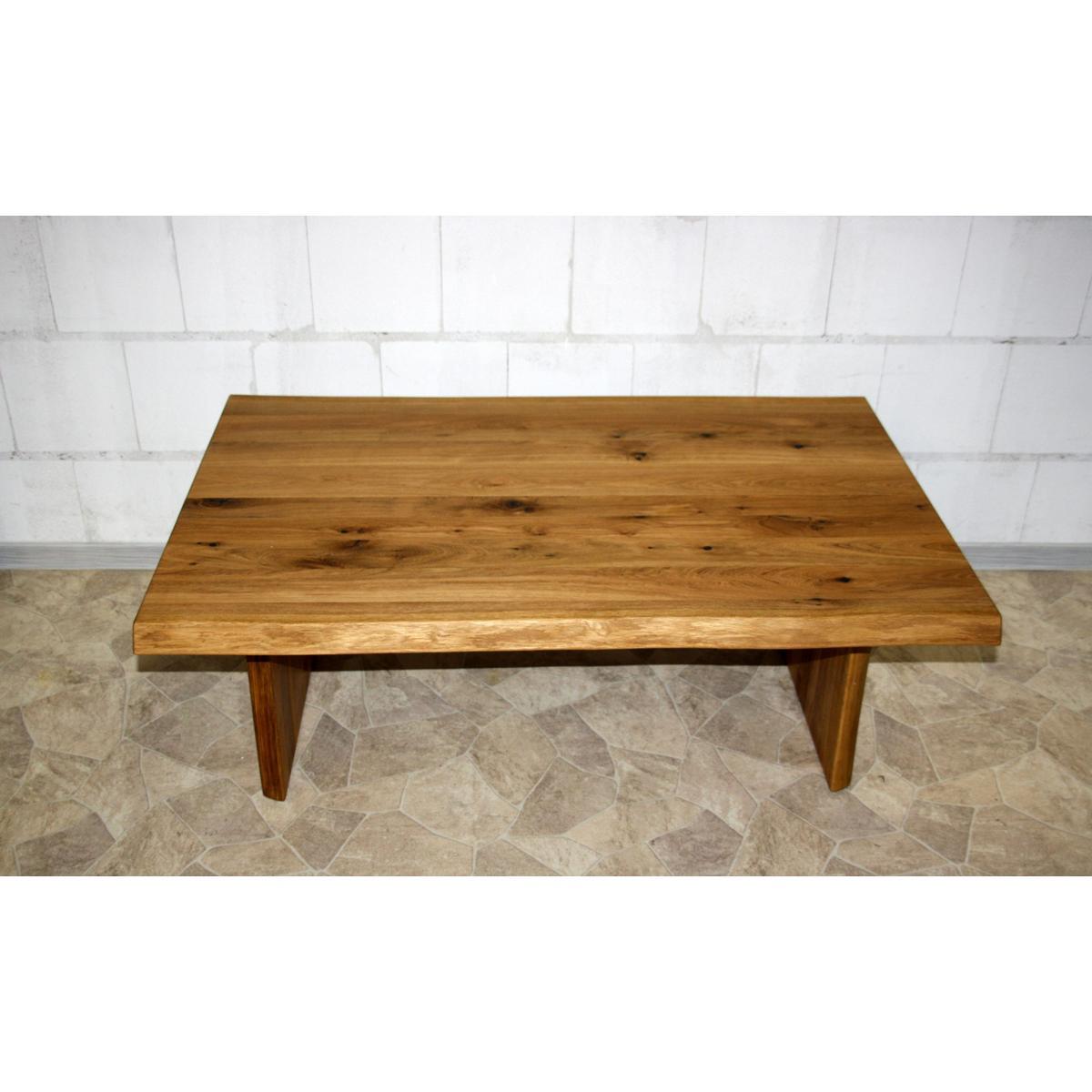 Couchtisch Holz Eiche Natur ~   Couchtisch Holz Wildeiche massiv natur geölt ZINGST 120x80cm Eiche