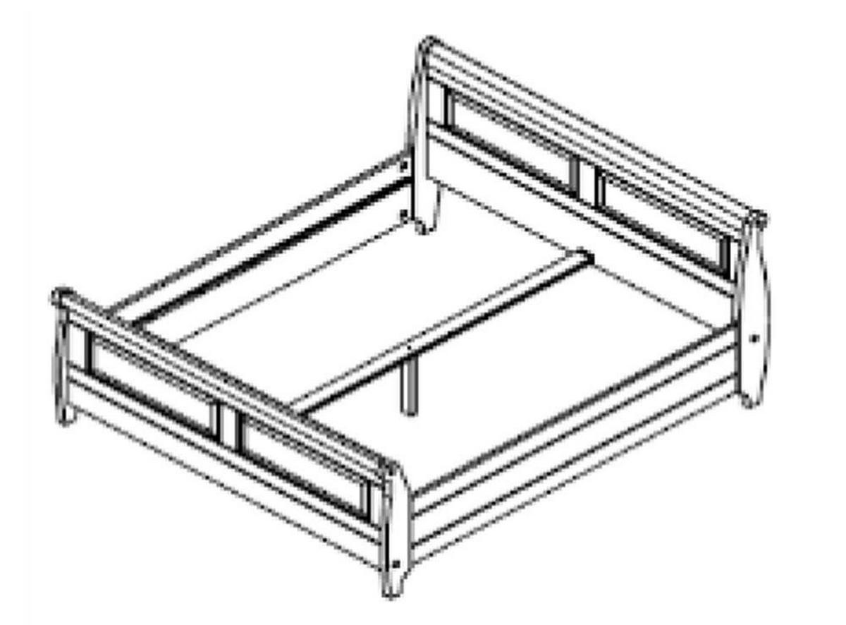 landhaus bettgestell bett 180x200 weiss holz kiefer massiv neapel. Black Bedroom Furniture Sets. Home Design Ideas