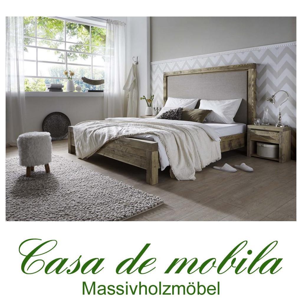 bett mit hohem kopfteil fichte massiv antik oder grau gewachst chalet king doppelbett 140x200. Black Bedroom Furniture Sets. Home Design Ideas