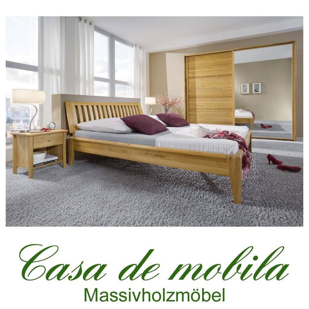 vollholz schlafzimmer komplett wildeiche sara i bett 160x200. Black Bedroom Furniture Sets. Home Design Ideas