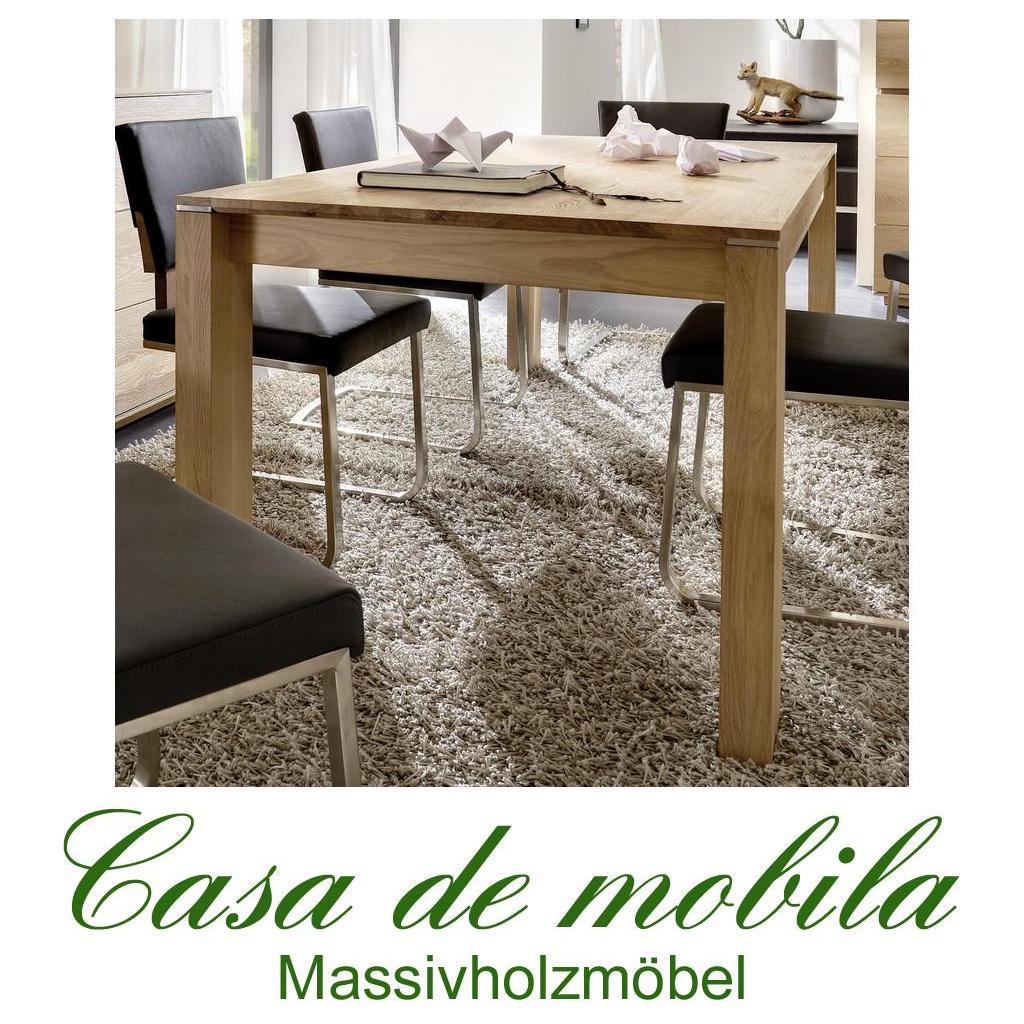 massivholz esstisch tisch 140x85 asteiche massiv geburstet bianco geolt acerro