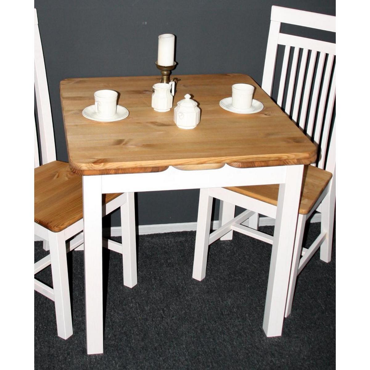 Küchentisch Massivholz Ausziehbar Weiß : Massivholz Esstisch Küchentisch Kiefer massiv weiß gelaugt geölt 2 ...