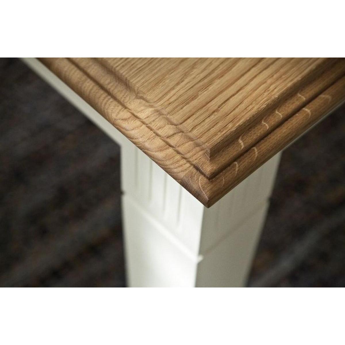 massivholz esstisch 160x95 nordic home kiefer massiv weiß lackiert, Moderne