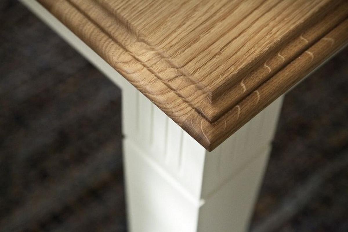 massivholz esstisch erweiterbar 160 260x95 nordic home kiefer massiv wei lackiert wildeiche ge lt. Black Bedroom Furniture Sets. Home Design Ideas
