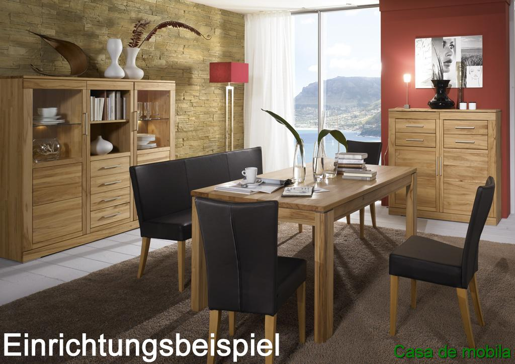 anrichte kommode 2 t rig kernbuche massiv natur ge lt casera. Black Bedroom Furniture Sets. Home Design Ideas