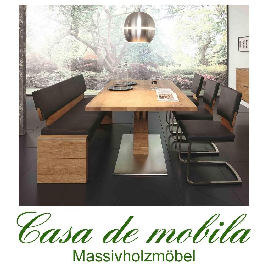 massivholz esszimmer-garnitur 5-teilig wildeiche massiv natur, Esszimmer dekoo