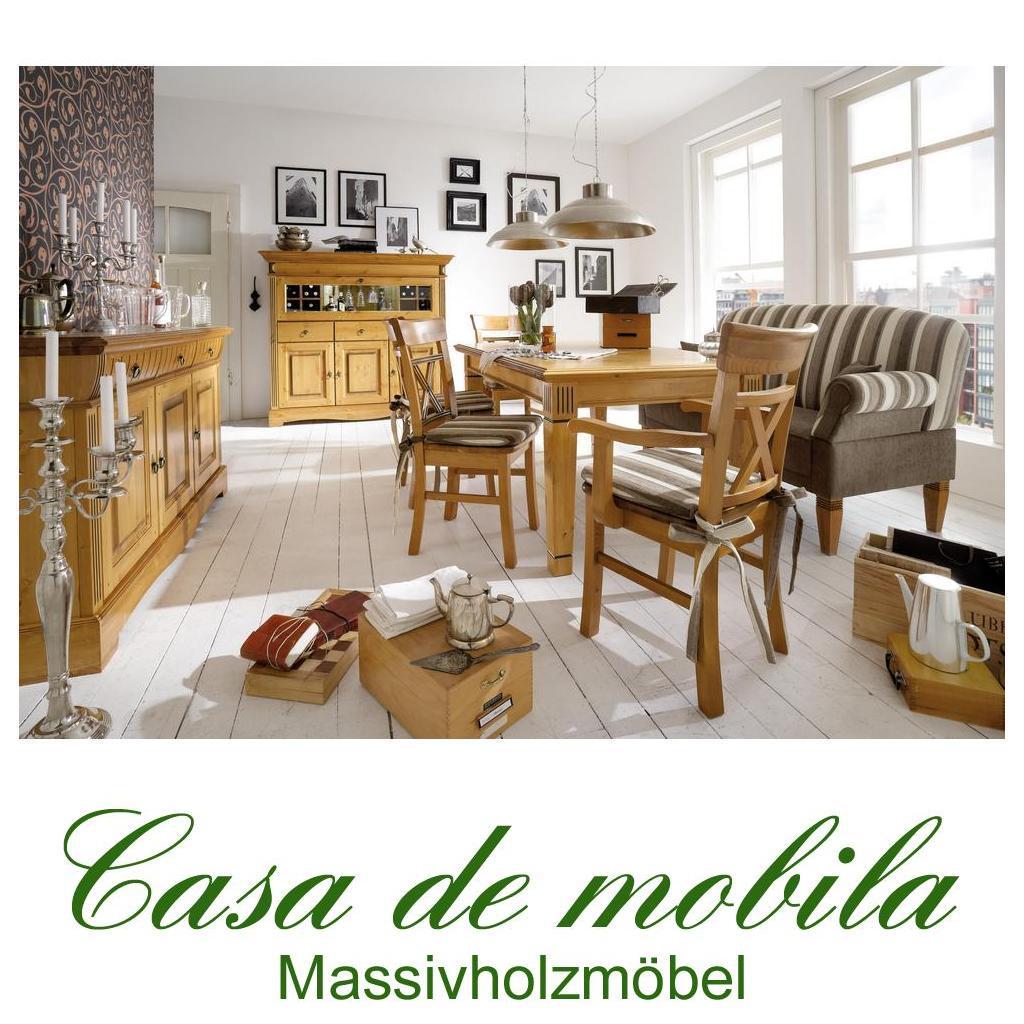 Landhaus esszimmerm bel mit tischsofa kiefer goldbraun for Casa shop vincere