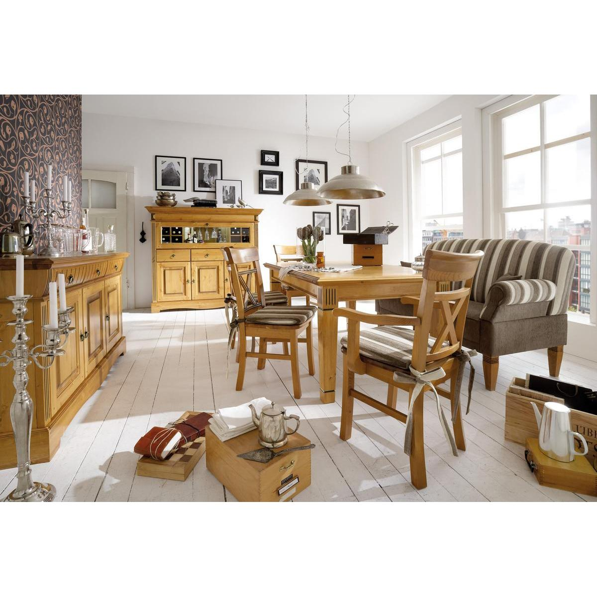 landhaus tisch esstisch goldbraun patiniert 180x95 g teborg kiefer massiv. Black Bedroom Furniture Sets. Home Design Ideas