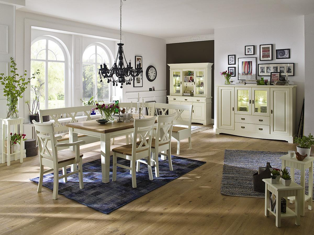 landhaus buffetschrank champagner lackiert 3 t rig paris kiefer massiv. Black Bedroom Furniture Sets. Home Design Ideas