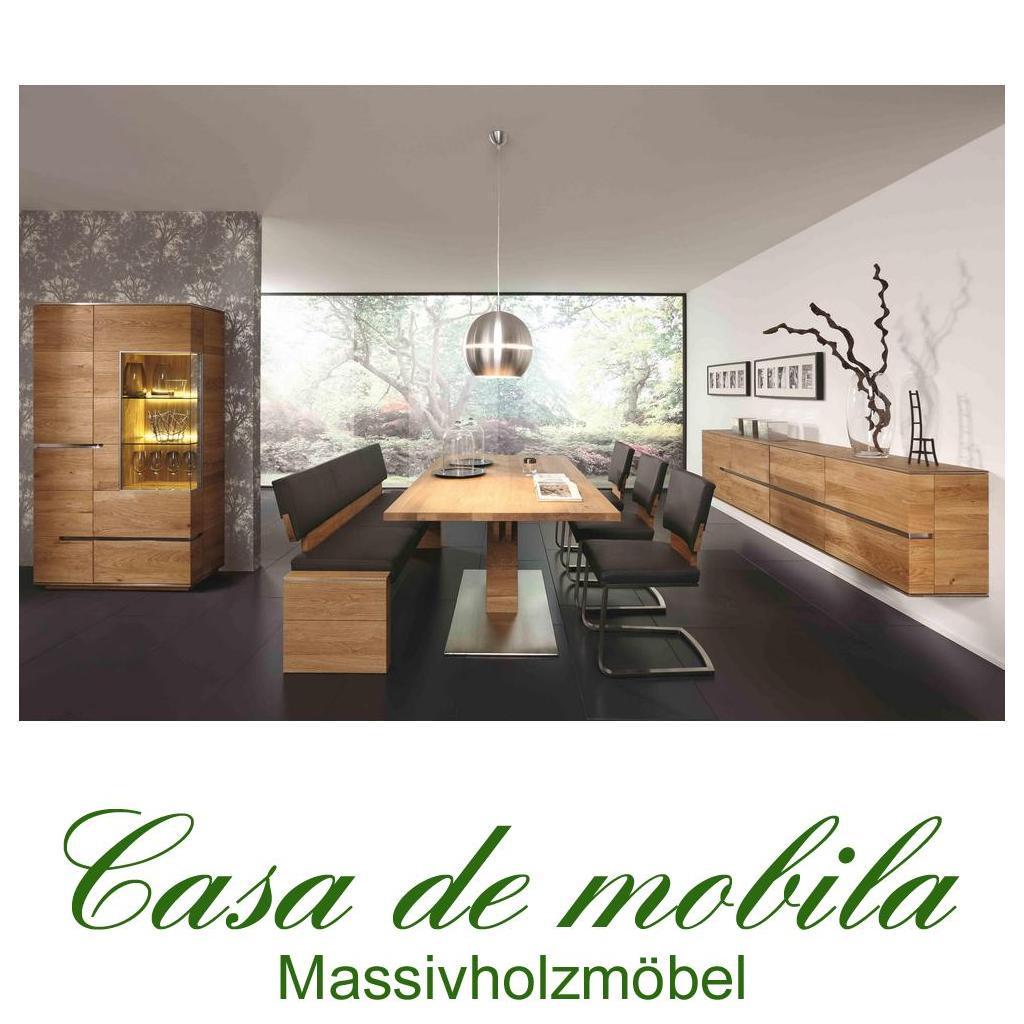 Elegant Massivholz Esszimmer Komplett Asteiche Massiv Natur Geölt   Speisezimmer  7 Teilig ACERRO
