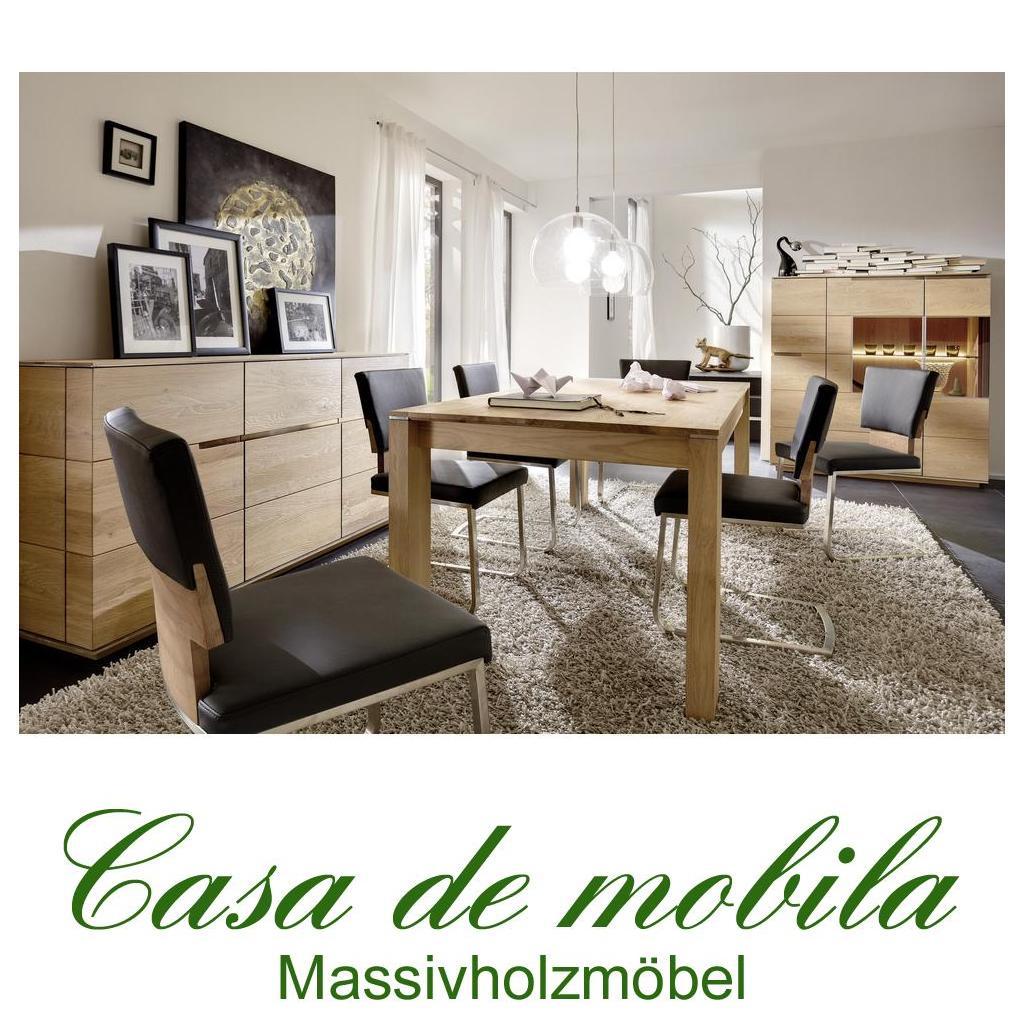 Außergewöhnlich Massivholz Esszimmer Komplett Asteiche Massiv Gebürstet Bianco Geölt    Speisezimmer 9 Teilig ACERRO