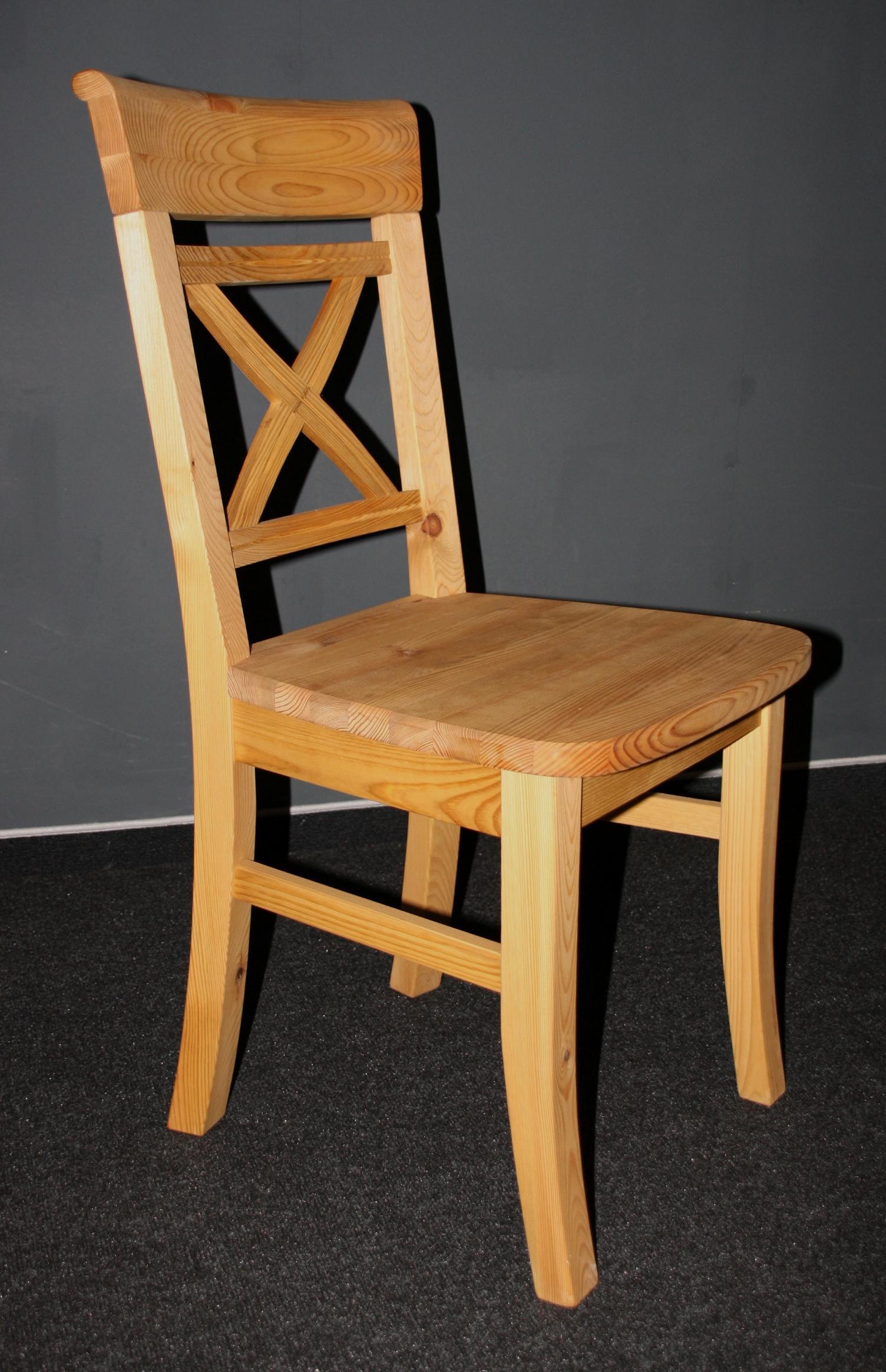 Landhaus Tisch mit Stühle gebeizt-geölt Kiefer massiv bei Casa de mobila