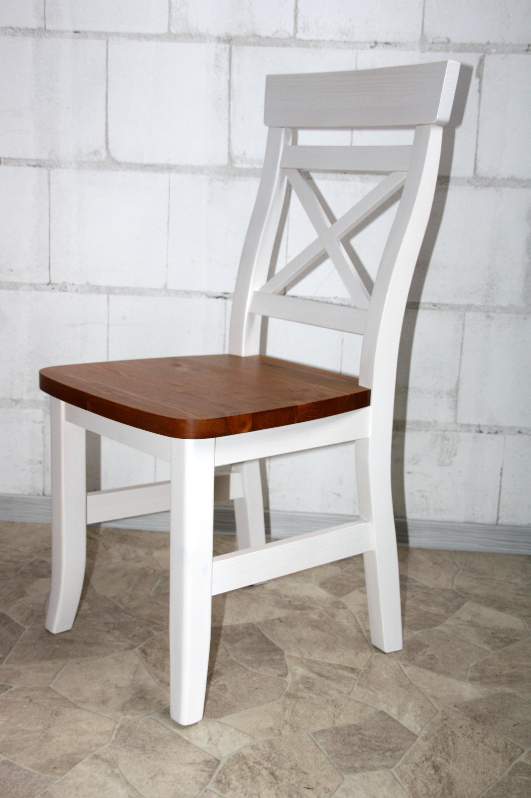 Landhaus Tisch Mit Stühle Weiß Honig Kiefer Massiv 2 Farbig Fjord