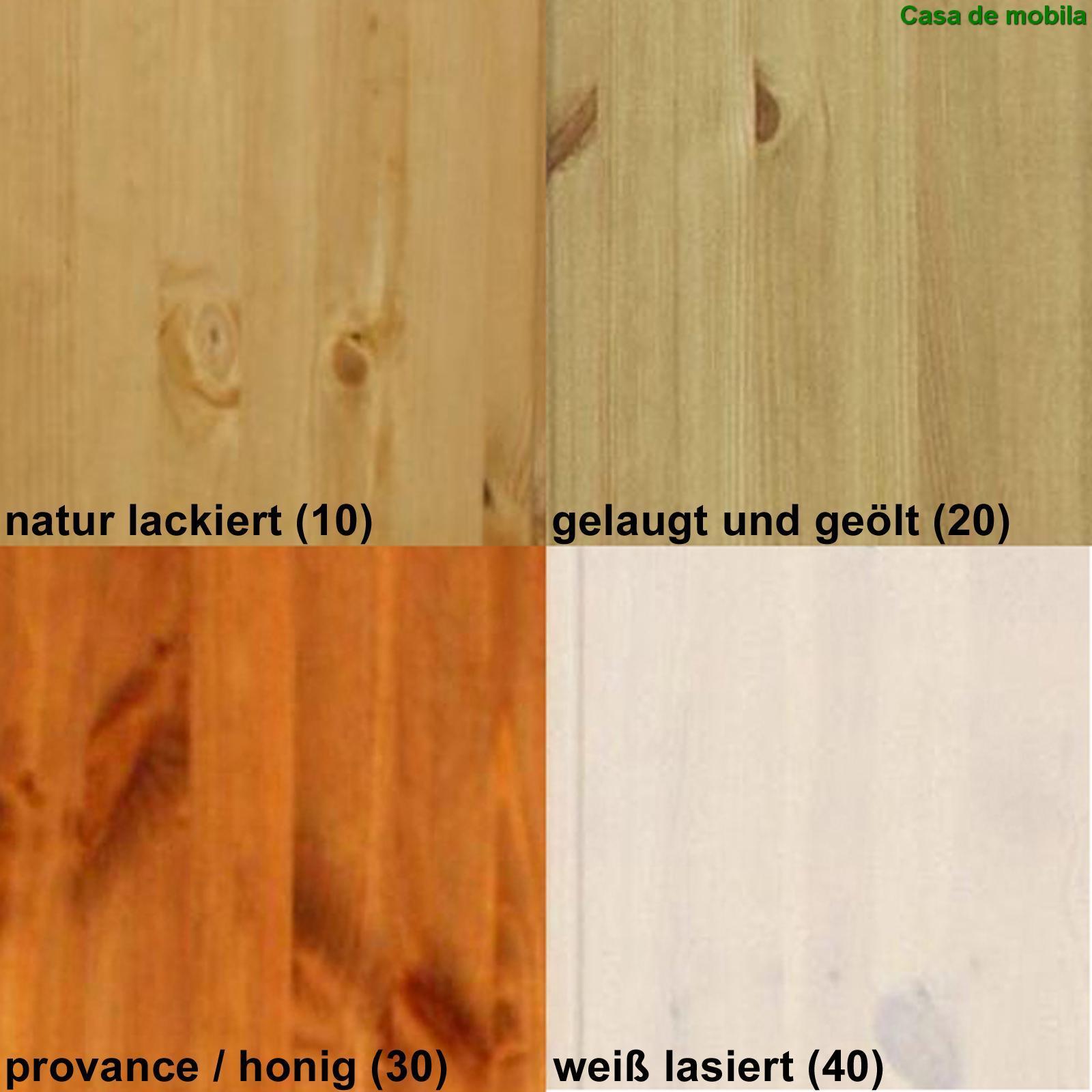Massivholz Wohnwand groß Kiefer massiv gebeizt geölt GULDBORG - 4 ...