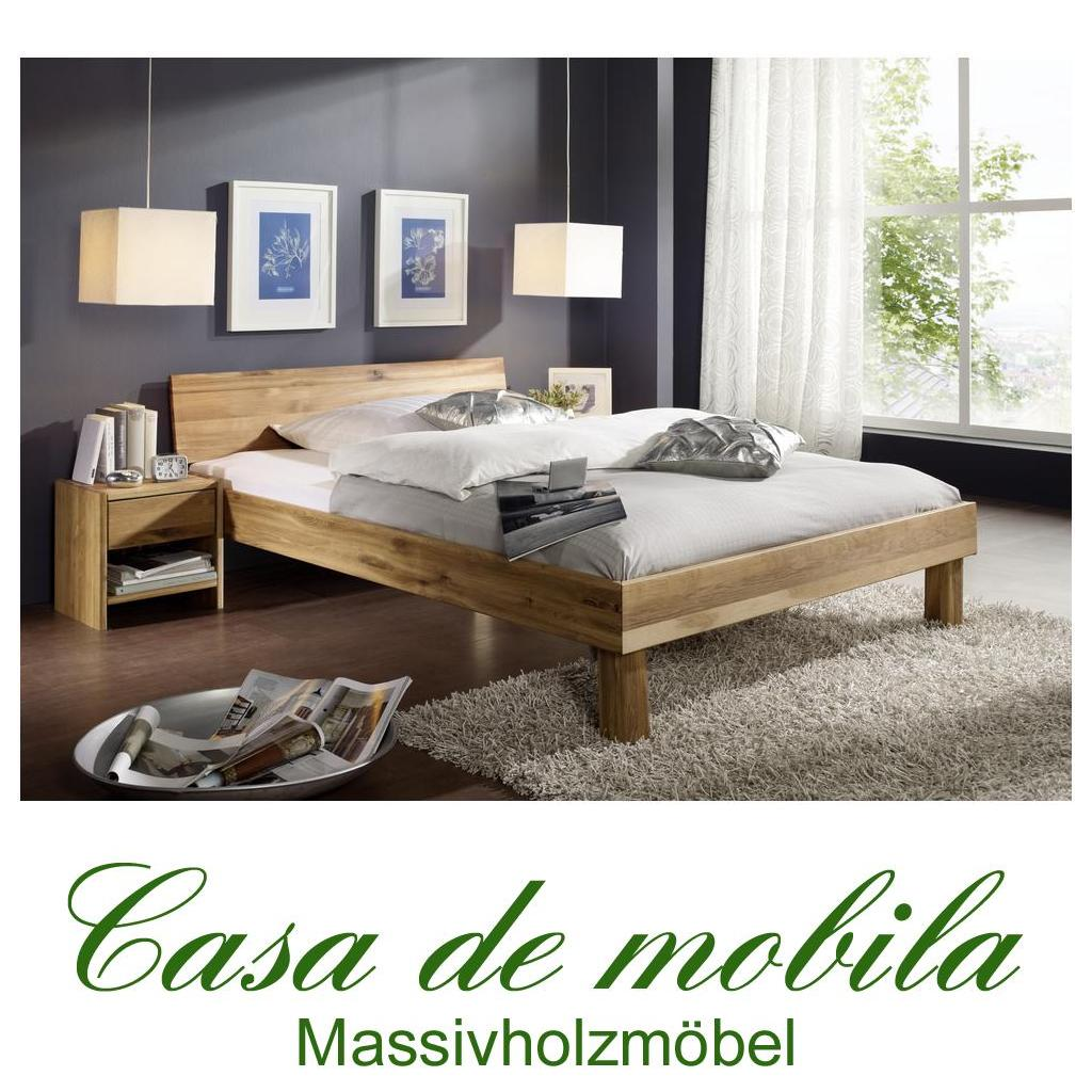 massivholz doppelbett wildeiche massiv ge lt holzbett campino bett 180x200 geschlossenes kopfteil. Black Bedroom Furniture Sets. Home Design Ideas