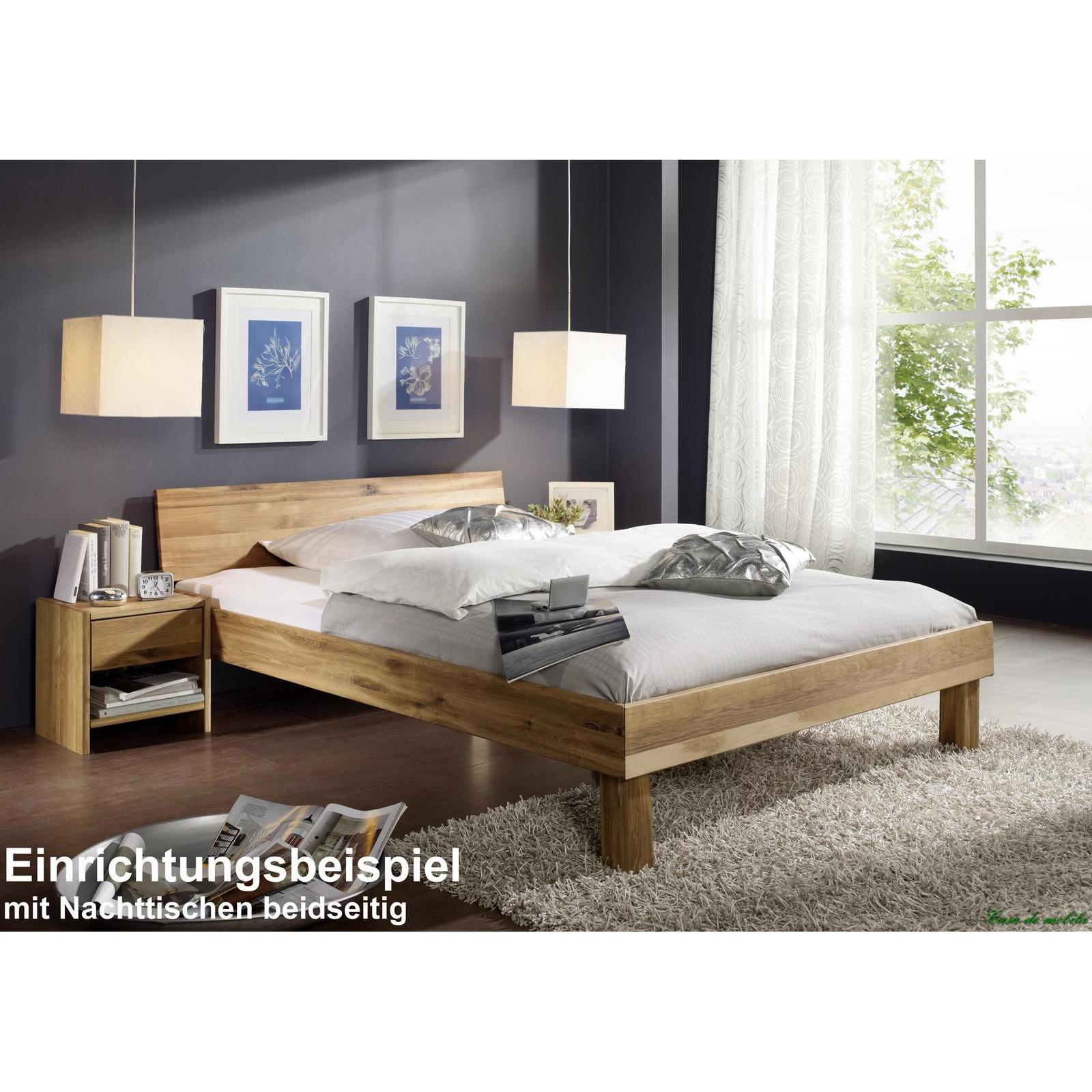 massivholz einzelbett mit schubladen wildeiche massiv. Black Bedroom Furniture Sets. Home Design Ideas